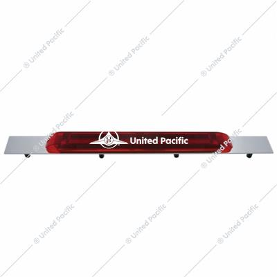 "Chrome Top Mud Flap Plate w/ 19 LED 17"" Light Bar - Red LED/Red Lens"