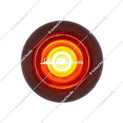 1 LED Mini Clearance Light Amber LED With Amber Lens w/ Rubber Grommet