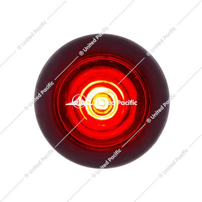 1 LED Mini Clearance Light Red LED With Red Lens w/ Rubber Grommet