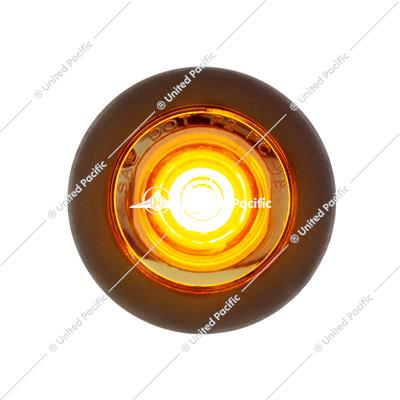 1 LED Mini Clearance Light Amber LED With Clear Lens w/ Rubber Grommet