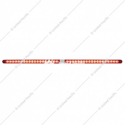 "Dual 14 LED 12"" Reflector Light Bars With Bezel - Red LED/Red Lens"