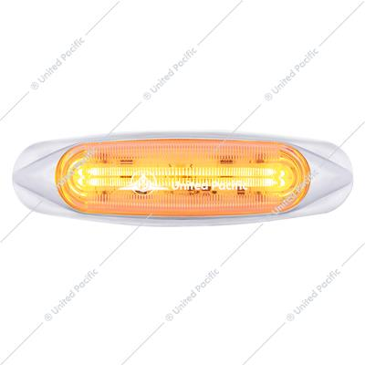 4 LED Light Track Clearance/Marker Light - Amber LED/Clear Lens