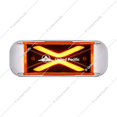4 LED Saber Rectangular Marker Light With Amber Lens
