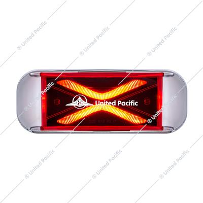 4 LED Saber Rectangular Marker Light With Red Lens