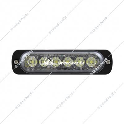 6 High Power LED Super Thin Directional Warning Light - Amber LED