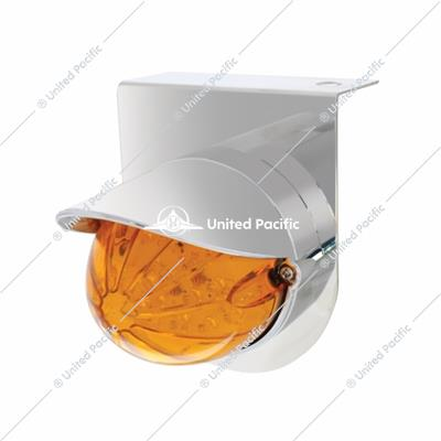 Stainless Light Bracket w/ 19 LED Bullet Style Grakon 1000 Light & Visor - Amber LED/Amber Lens