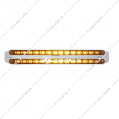 "Dual 14 LED 12"" Turn Signal Light Bars - Amber LED/Amber Lens"