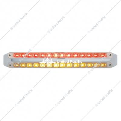 "Dual 14 LED 12"" Light Bars - Amber & Red LED/Clear Lens"