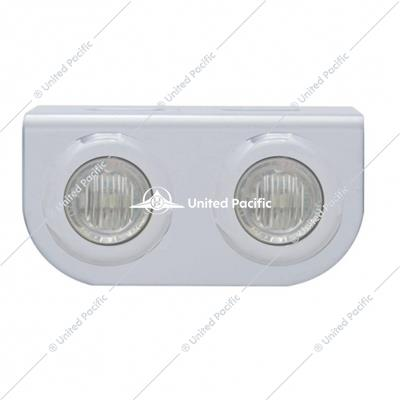 Stainless Light Bracket w/ Two 3 LED Mini Lights - Red LED/Clear Lens