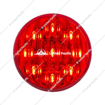 "9 LED 2"" Round Clearance/Marker Light Pack - Red LED/Red Lens (40 Pack)"