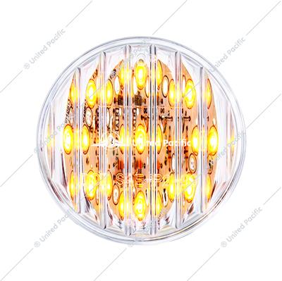 "9 LED 2"" Round Clearance/Marker Light Pack - Amber LED/Clear Lens (40 Pack)"