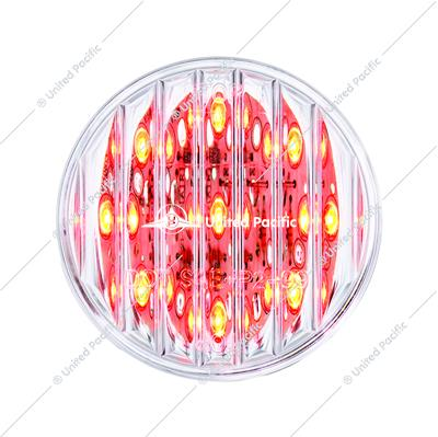 "9 LED 2"" Round Clearance/Marker Light Pack - Red LED/Clear Lens (40 Pack)"