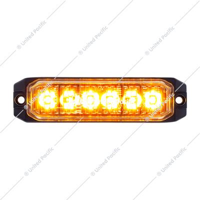 "6 High Power LED ""Competition Series"" Slim Warning Light - Amber"