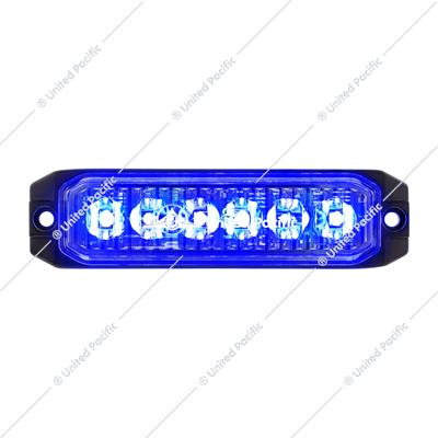 "6 High Power LED ""Competition Series"" Slim Warning Light - Blue"