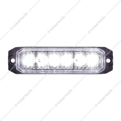 "6 High Power LED ""Competition Series"" Slim Warning Light - White"