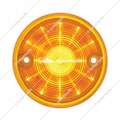 "15 LED 3"" Dual Function Double Face Light Only - Amber LED/Amber Lens"