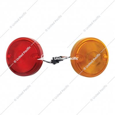 "15 LED 3"" Dual Function Double Face Light Kit Only - Amber & Red LED/Amber & Red Lens"