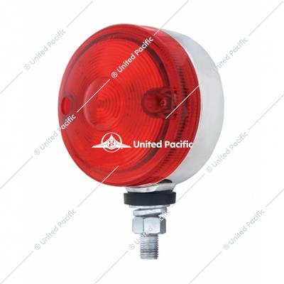 "15 LED 3"" Dual Function Single Face Light - Red LED/Red Lens"