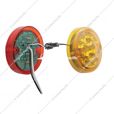 "15 LED 3"" Reflector Double Face Light Kit Only - Amber & Red LED/Amber & Red Lens"