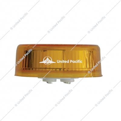"9 LED 2-1/2"" Pure Reflector Clearance/Marker Light - Amber LED/Amber Lens"