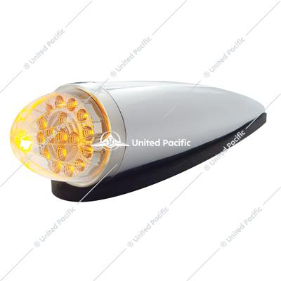 17 LED Dual Function Watermelon Clear Reflector Cab Light Kit - Amber LED/Clear Lens