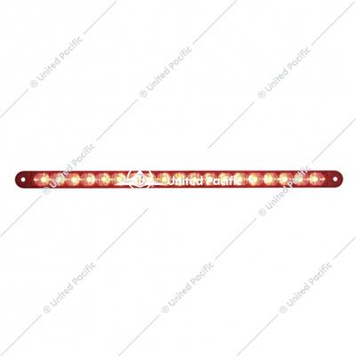 "19 LED 12"" Stop, Turn & Tail Reflector Light Bar Only - Red LED/Red Lens"