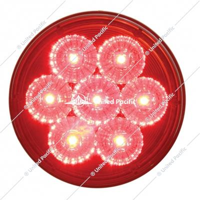 "7 LED 4"" Reflector Stop, Turn & Tail Light Kit - Red LED/Red Lens"