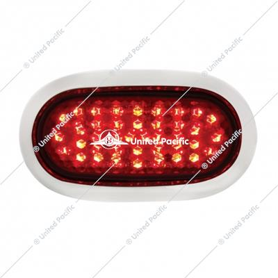 40 LED Vintage Oval Stop, Turn & Tail Light - Red LED/Red Lens