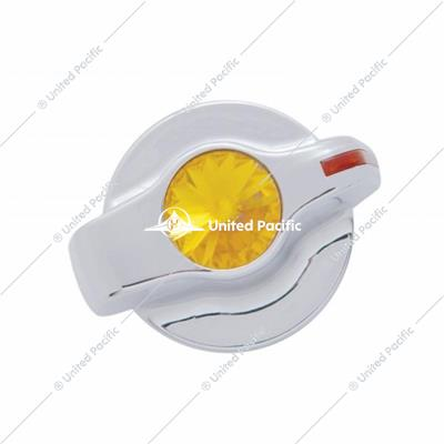 Chrome Plastic A/C Control Knob With Crystal- Amber Diamond