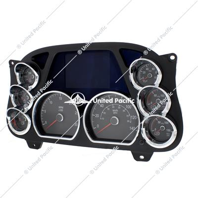 Chrome 2010+ Peterbilt 3-Gauge Cluster Cover - Left