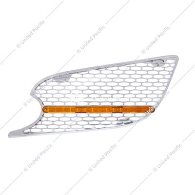 Chrome Air Intake Grille w/ LED Light For 2012-2021 Peterbilt 579