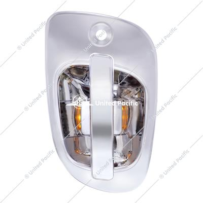 6 Amber LED Chrome Door Handle Cover for Freightliner - Passenger