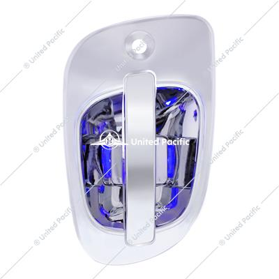 6 Blue LED Chrome Door Handle Cover for Freightliner - Driver