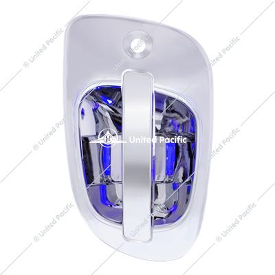 6 Blue LED Chrome Door Handle Cover for Freightliner - Passenger