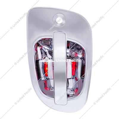 6 Red LED Chrome Door Handle Cover for Freightliner - Passenger