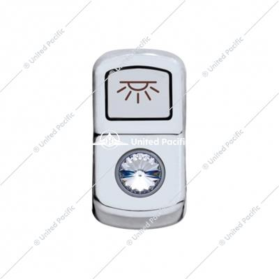 """Cab Light"" Rocker Switch Cover - Clear Diamond"