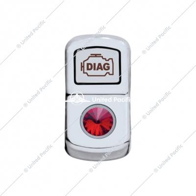 """Diagnostic"" Rocker Switch Cover w/ Red Diamond"