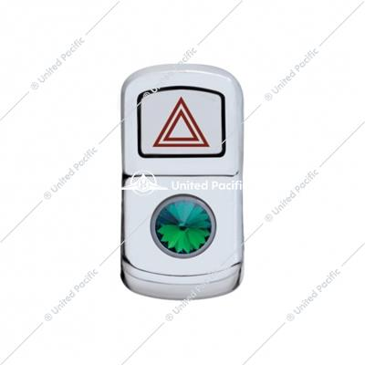 """Hazard"" Rocker Switch Cover W/ Green Diamond"