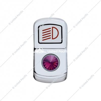 """Headlight"" Rocker Switch Cover w/ Purple Diamond"