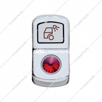 """Load Light"" Rocker Switch Cover W/ Red Diamond"