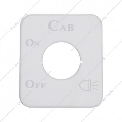 Kenworth Stainless Switch Plate - Cab Light