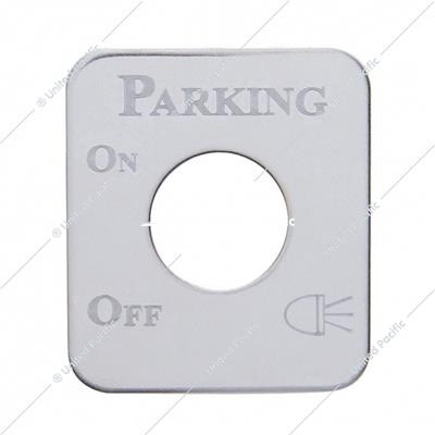 Kenworth Stainless Switch Plate - Parking Light
