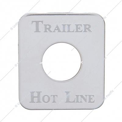 Kenworth Stainless Switch Plate - Trailer Hot Line
