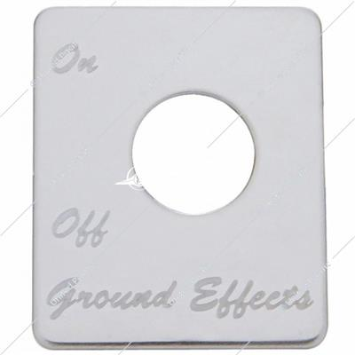 Peterbilt Stainless Switch Plate - Ground Effects