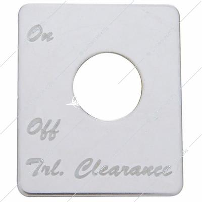 Peterbilt Stainless Switch Plate - Trailer Clearance