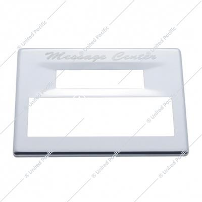 Peterbilt Stainless Steel Digital Message Center Cover - Script