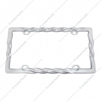 Chrome Twist License Plate Frame