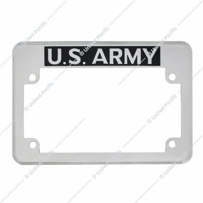 """U.S. Army"" Motorcycle License Plate Frame"