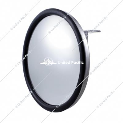"7-1/2"" Stainless Steel Convex Mirror With Centered Mounting Stud"