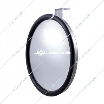 "7 1/2"" Stainless Steel Convex Mirror With Offset Mounting Stud"